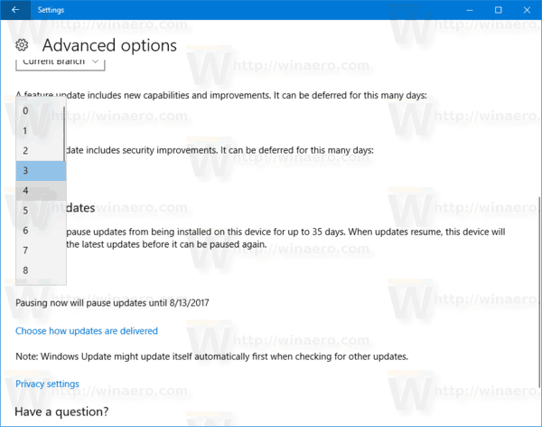 Windows 10 Defer Quality Update