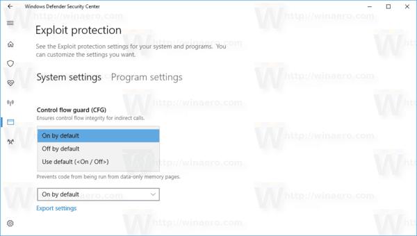 Windows 10 Enable Exploit Protection