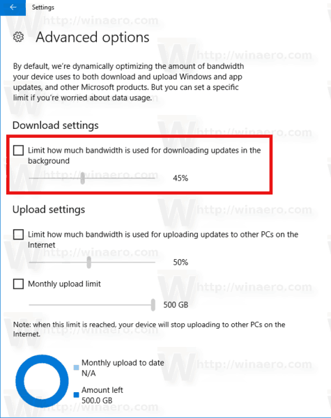 Windows 10 Limit Update Bandwidth