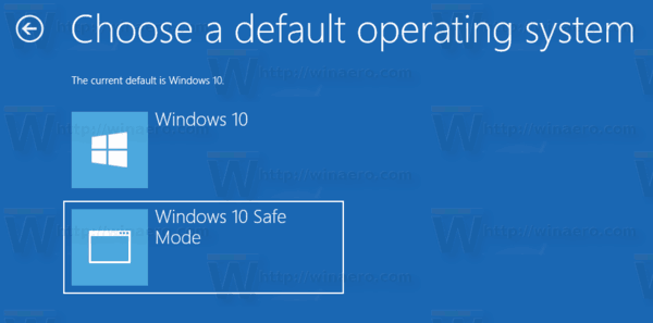 Windows 10 Set Default Boot OS