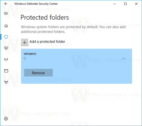 Folder Added To Controlled Folder Access