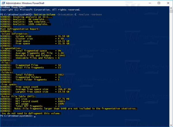 Powershell Analyze Drive