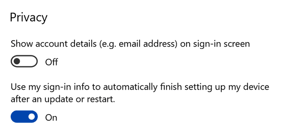 Sign In Info To Apply Settings After A Restart Or Update