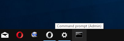 Admin Command Prompt Pinned To Taskbar