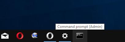 Admin Command Prompt Pinned To Taskbar