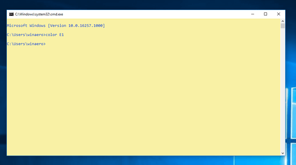 get new color scheme in command prompt in windows 10