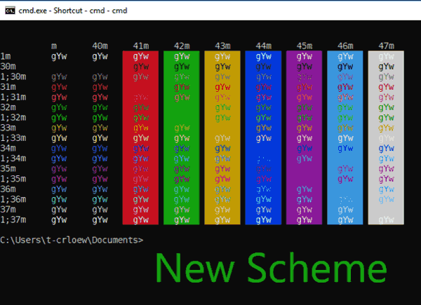 Console New Color Scheme Cmd Windows 10