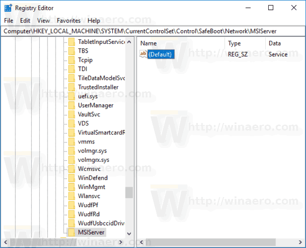 Enable Windows Installer in Safe Mode To Remove Apps
