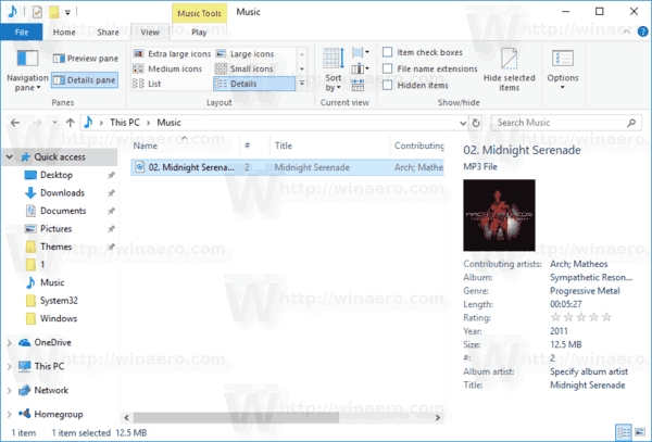 File Explorer Tags In Details Pane