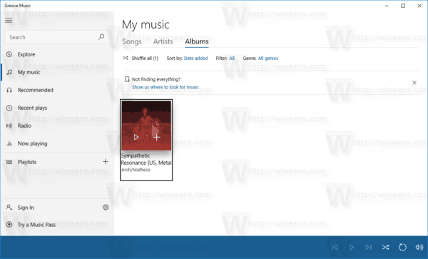 Groove Music My Mysic View