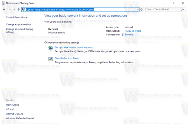 Disable or Enable File and Printer Sharing in Windows 10