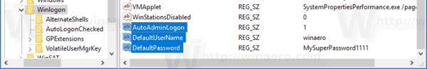 Registry AutoLogin
