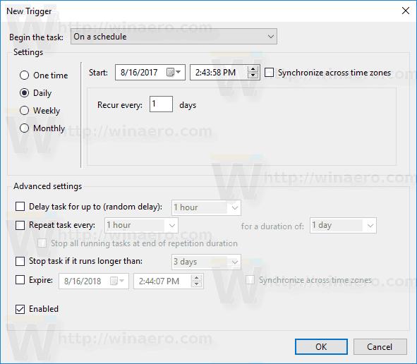 Restore Point Schedule Windows 10