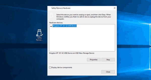 Safely Remove Hardware Shortcut In Action
