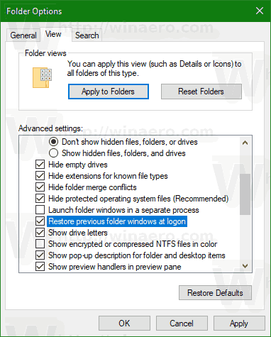 Windows 10 Restore Previous Folder Windows