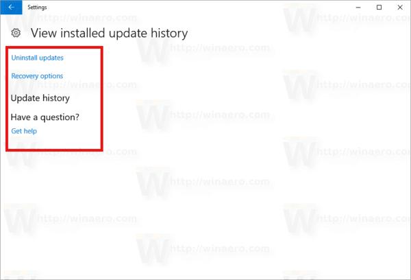 Windows 10 No Update History