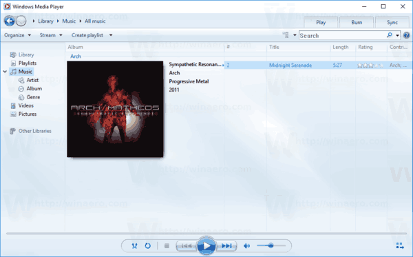 Windows Media Player Music