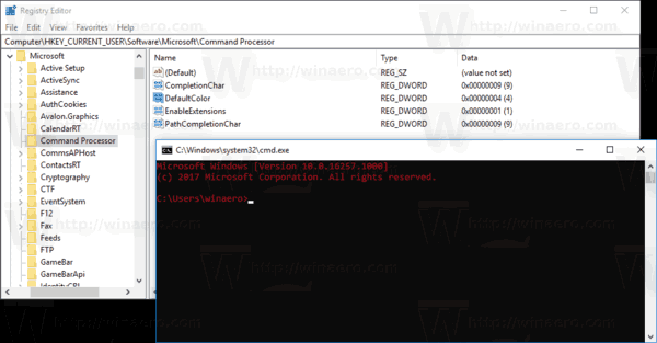 Change Colors in Command Prompt in Windows 10