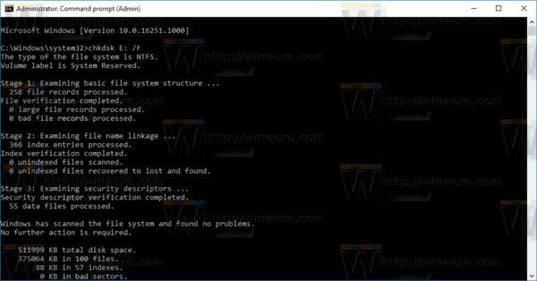 Chkdsk Check Disk For Errors