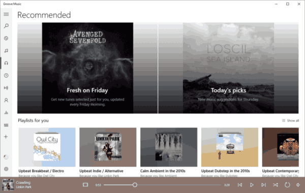 Groove Music Playlist Improvements