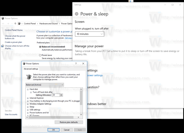 Power Option Context Menu In Action