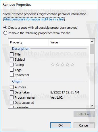 Remove Exif Windows 10