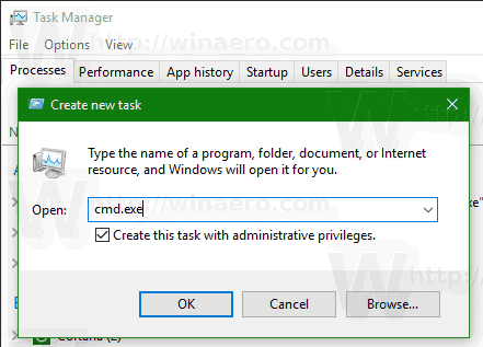 Task Manager Run New Task Elevated