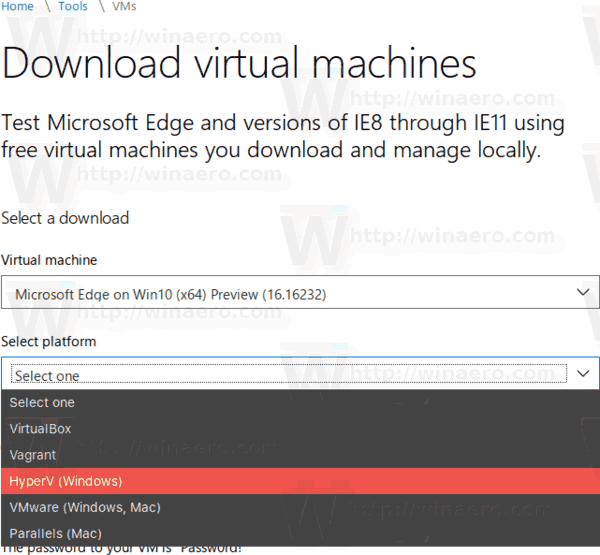 Windows 10 April 2018 Update Official Virtual Machines