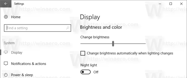 Change Brightness In Settings In Windows 10