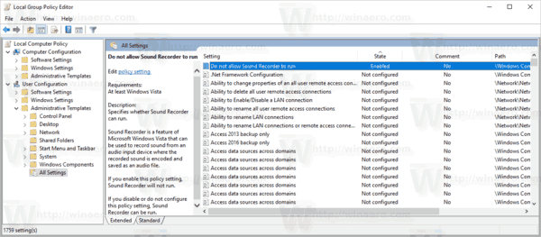 Group Policy Editor All User Settings Windows 10