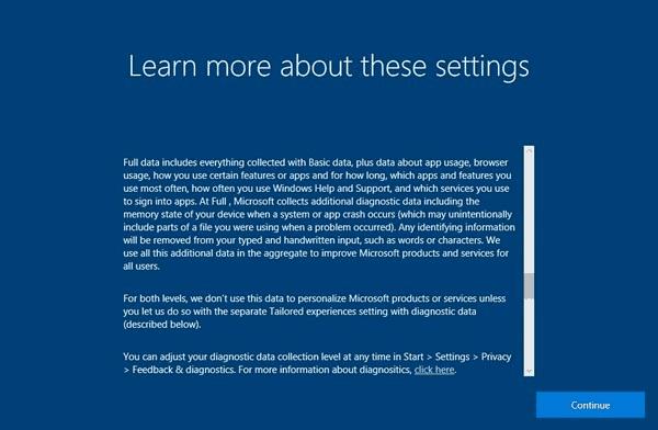 Privacy Statement Windows 10 Fall Creators Update