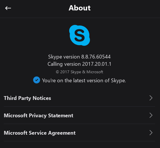 Skype Preview 8.8