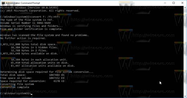 Windows 10 Convert Fat32 To NTFS