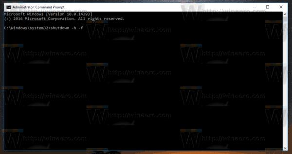 Windows 10 Hibernate PC Shutdown Tool