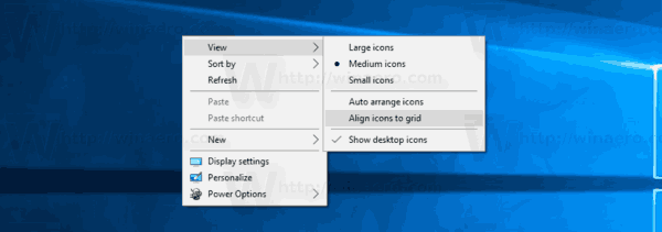 Desktop Icons Align To Grid Disabled