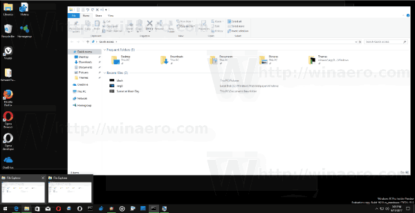 Taskbar Thumbnail Live Preview Windows 10