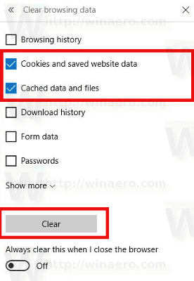 Clear Cache And Cookies In Microsoft Edge