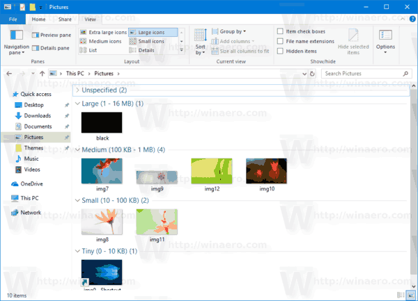 File Explorer Group Files