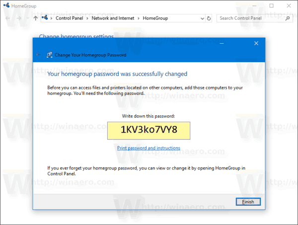 microsoft homegroup password change
