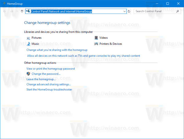 how to change homegroup password windows 10
