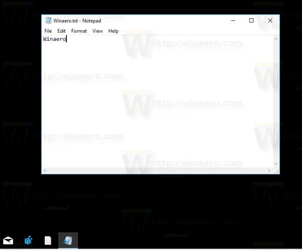 Pinned Txt File To Taskbar In Windows 10