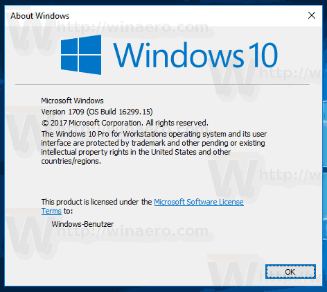Windows 10 Fall Creators Update 1709 16299