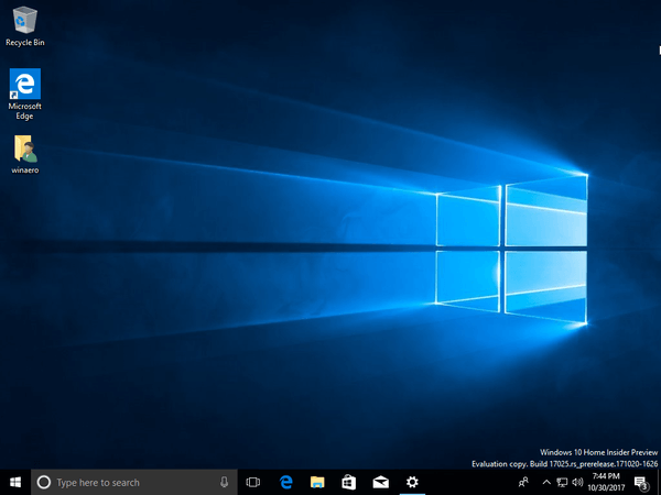 Windows 10 Build 17025