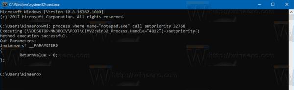 Windows 10 Change Process Priority Wmic