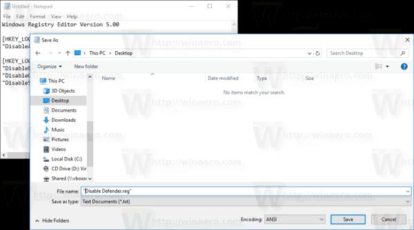 disable defender windows 10 creators update
