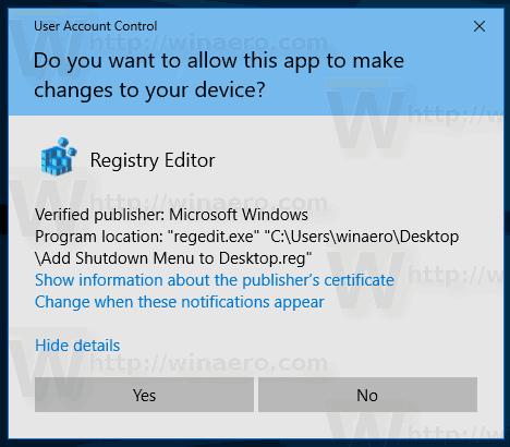 Windows 10 Shutdown Tweak