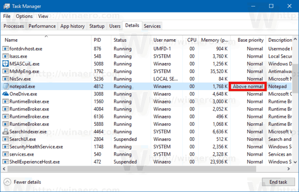 How to Change Process Priority in Windows 10