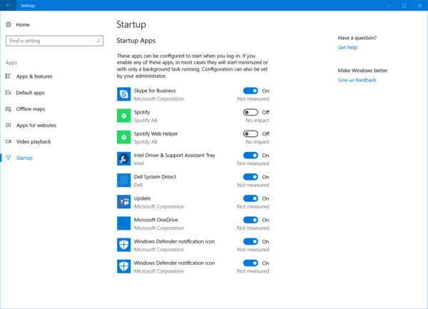 how to remove start up programs windows 10
