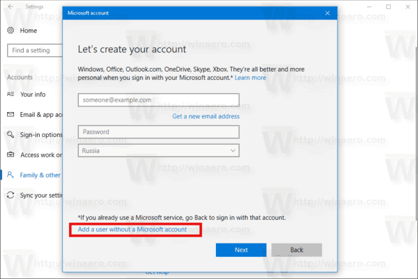 New User Account Wizard 2 Windows 10