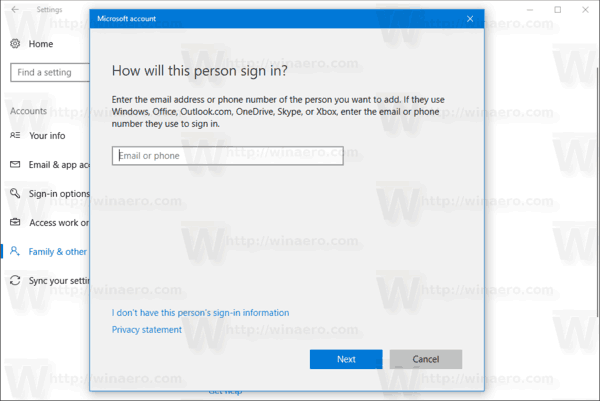New User Account Wizard Windows 10